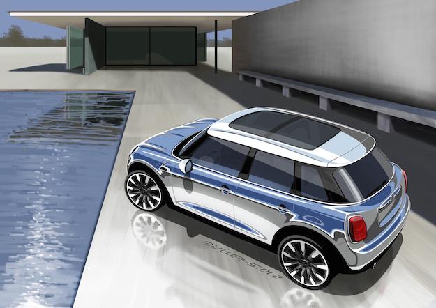 nuova mini 2014 5 porte la tua auto. Black Bedroom Furniture Sets. Home Design Ideas