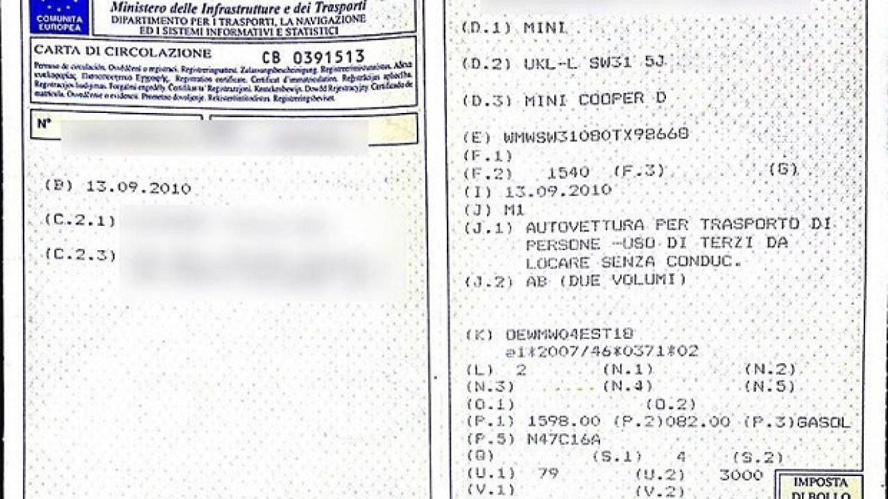 Come richiedere duplicato Carta di Circolazione - La tua auto