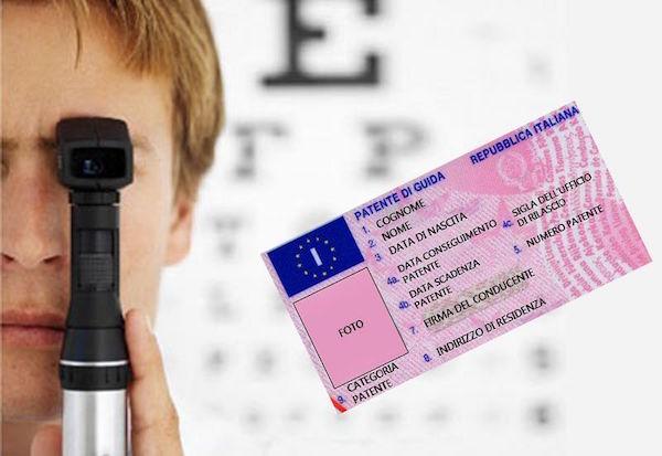 Patente con occhiali