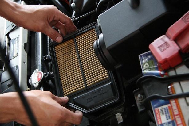 filtro aria motore sporco