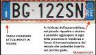Targhe auto italiane