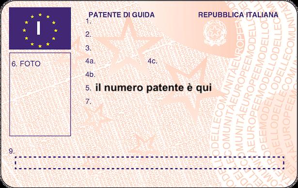 Qual è il numero della patente